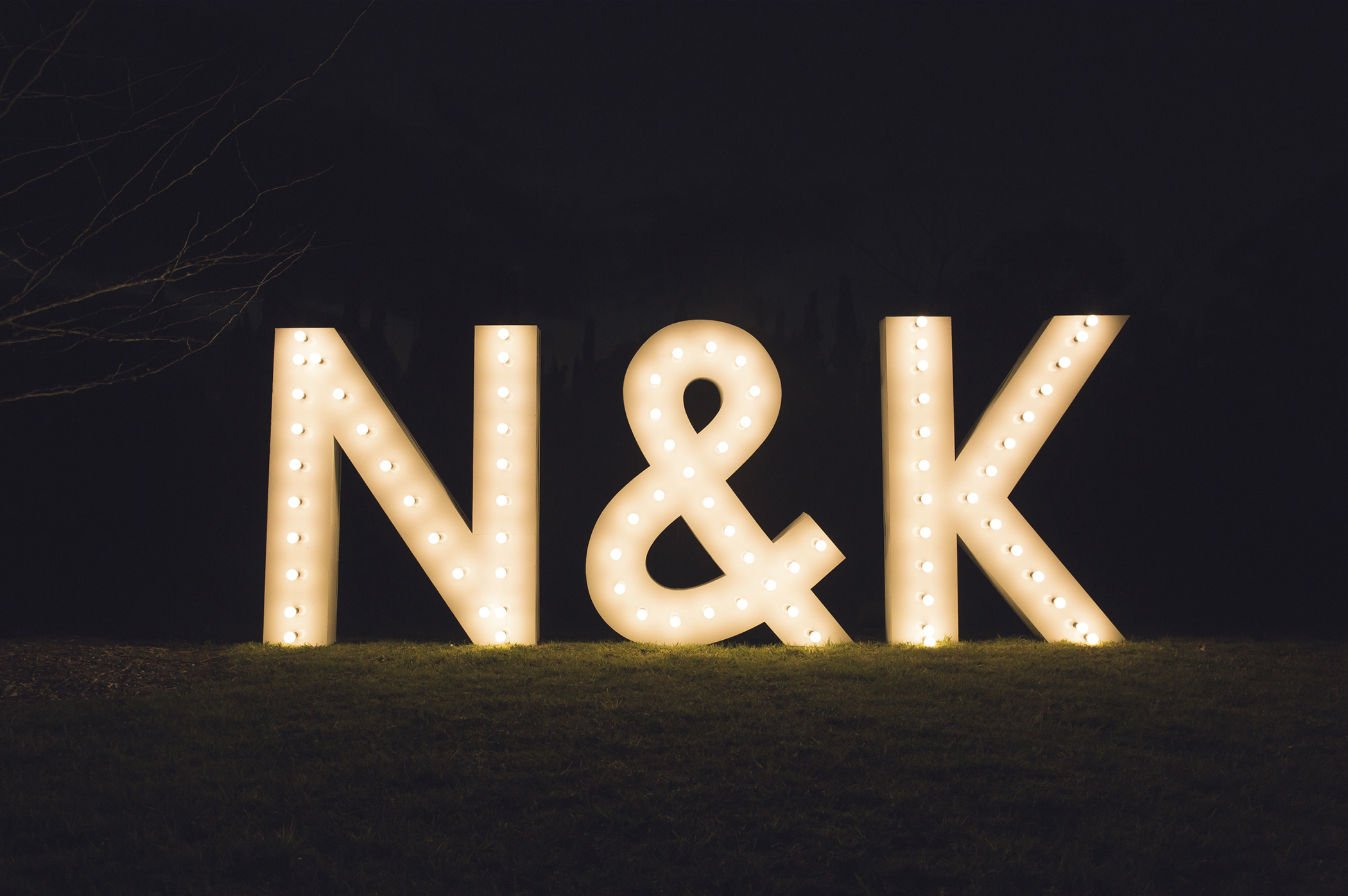 GIANT WEDDING LETTER HIRE N&K